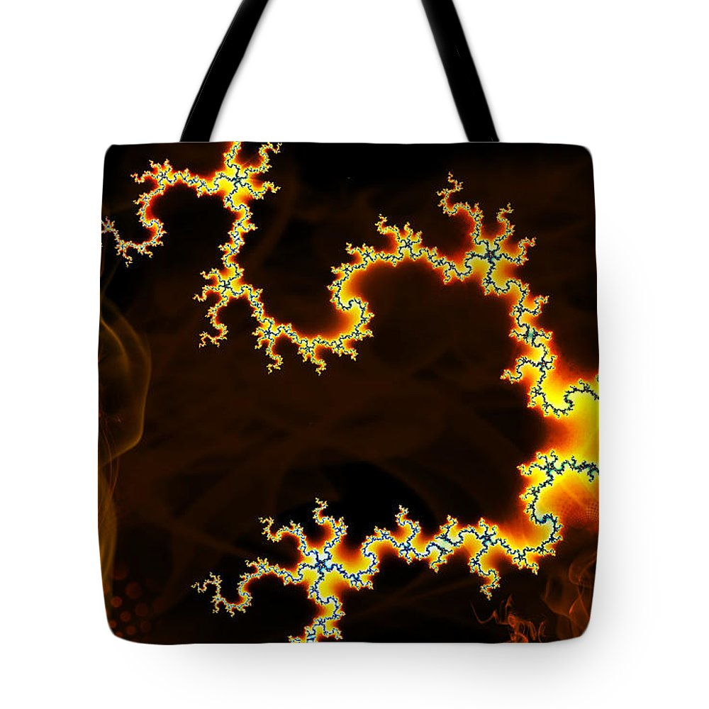 Clay Tote Bag featuring the digital art Dark World by Clayton Bruster