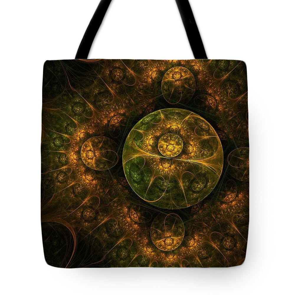 Abstract Tote Bag featuring the digital art Darkness Looms by Lyle Hatch