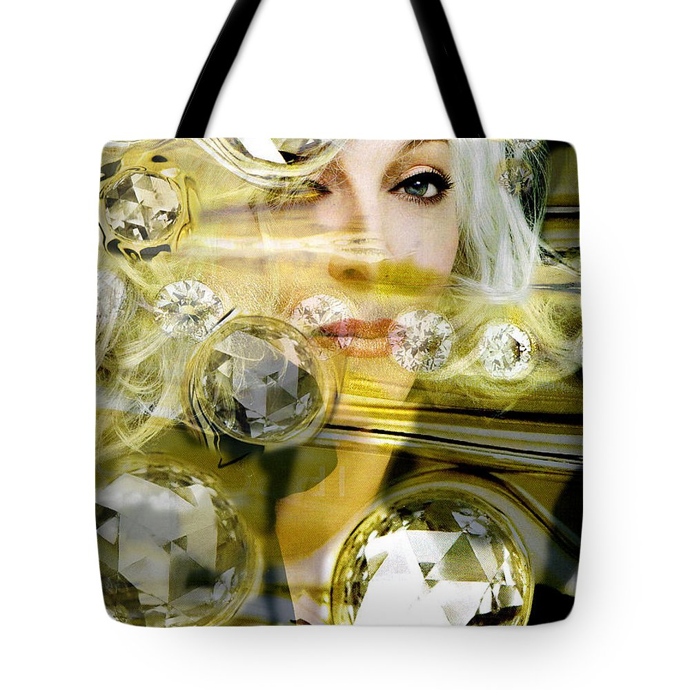 Women Tote Bag featuring the digital art Darling Diamonds by Seth Weaver