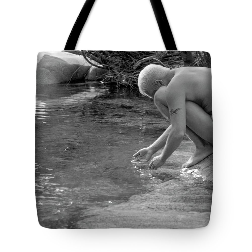 Male Tote Bag featuring the photograph Darrell B. 1-1 by Andy Shomock