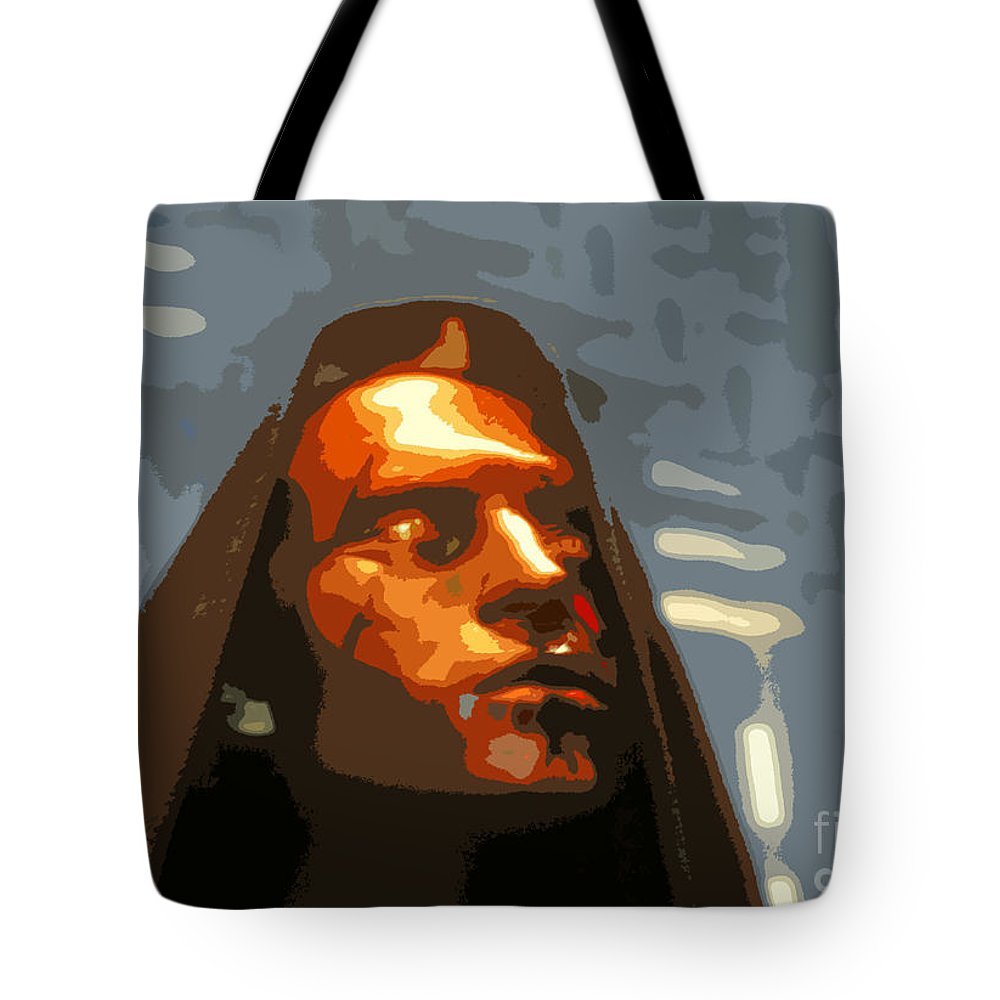 Darth Maul Tote Bag featuring the painting Darth Maul by David Lee Thompson