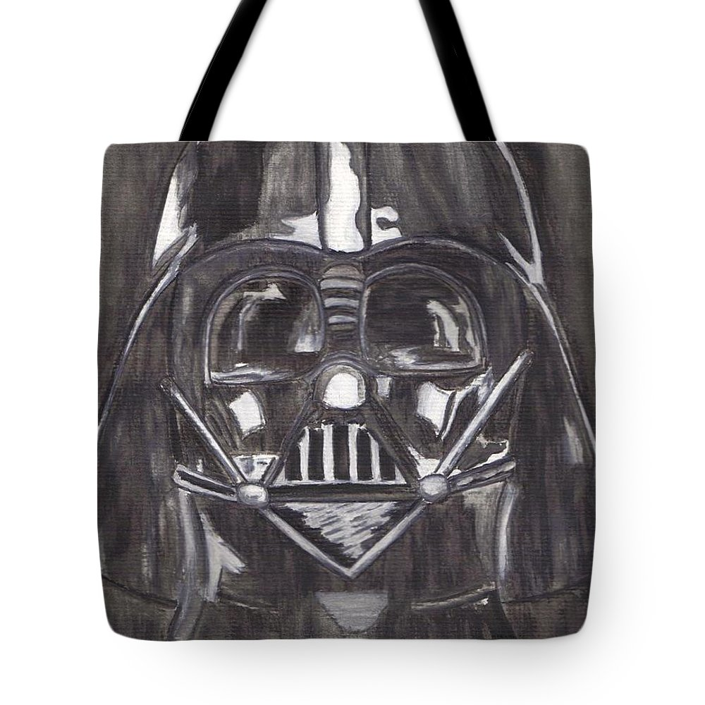 Movies Tote Bag featuring the painting Black And White Star by Jill Christensen