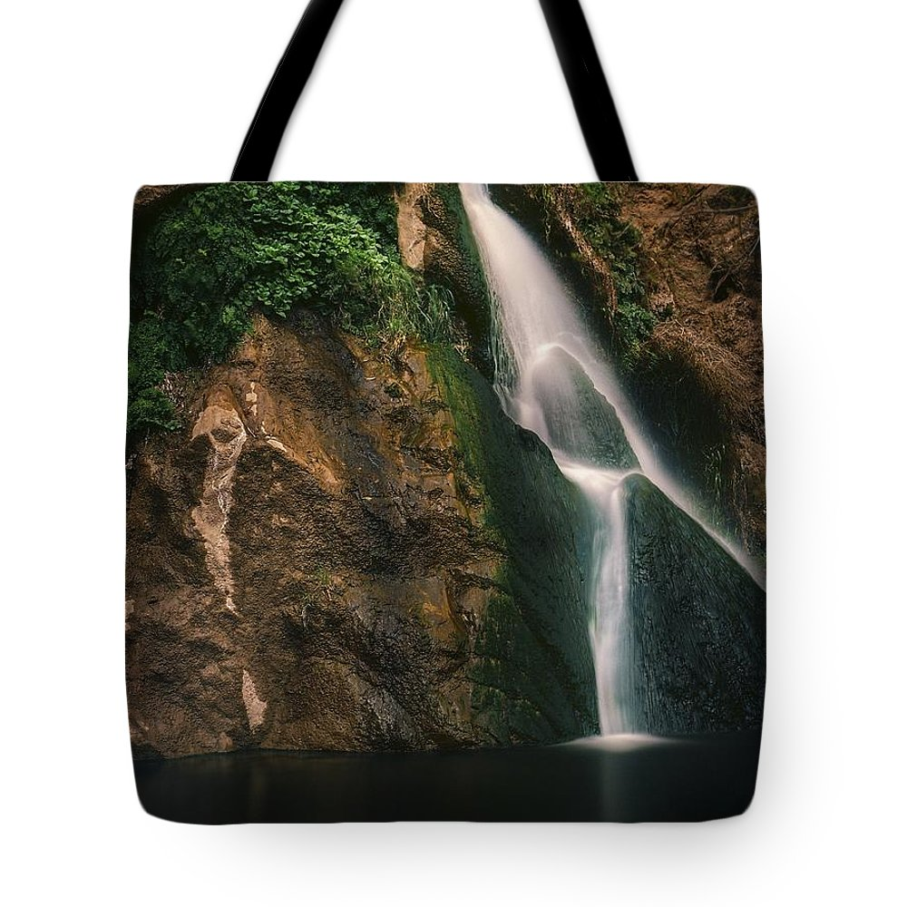 Landscape Tote Bag featuring the photograph Darwin Falls - Death Valley by Roland Peachie