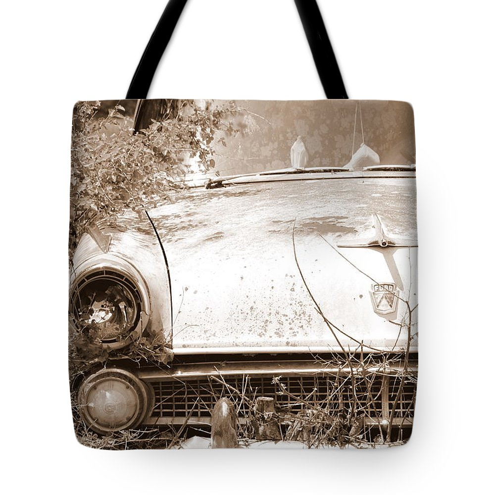 Dashboard Jesus Tote Bag featuring the photograph Dashboard Jesus by Ed Smith