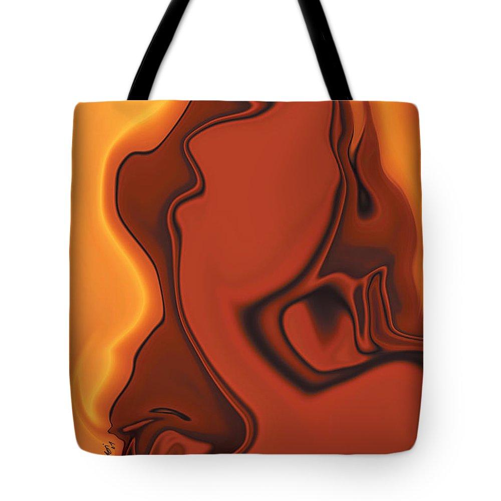 Abuse Adverse Art Beauty Brown Copper Digital Girl Golden Human Orange Red Right Venus Violence Wall Tote Bag featuring the digital art Daughter Of Venus by Rabi Khan