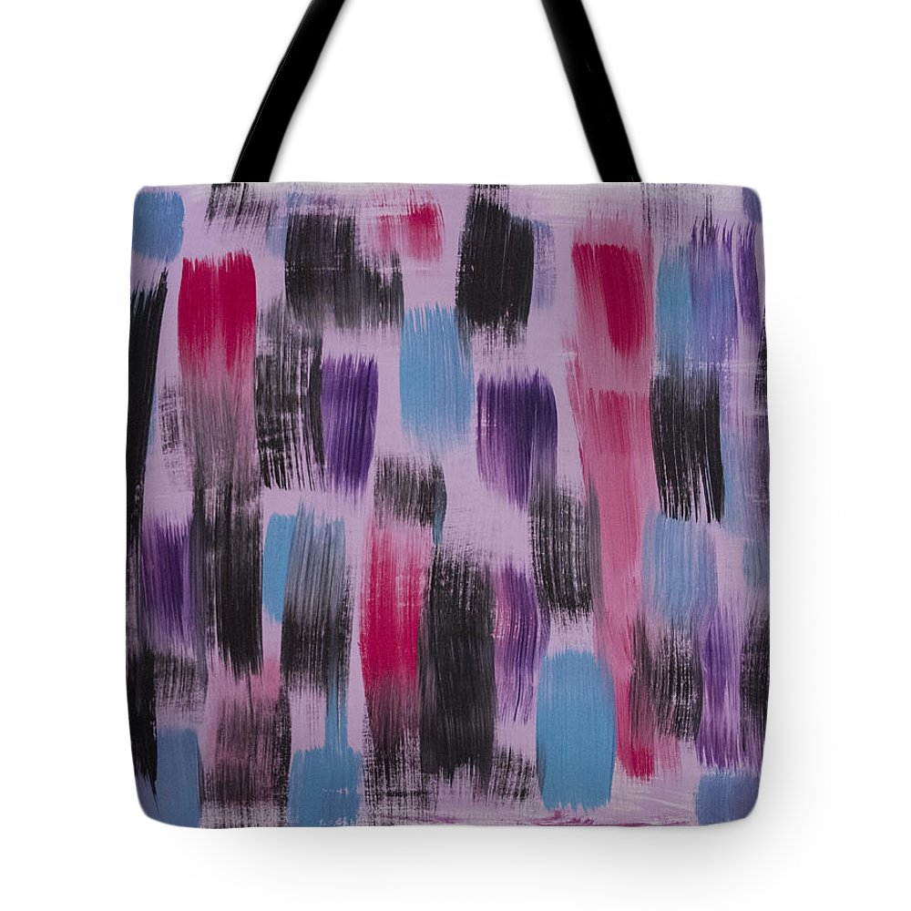 Pink Tote Bag featuring the painting Daughters by Jacie Garcia
