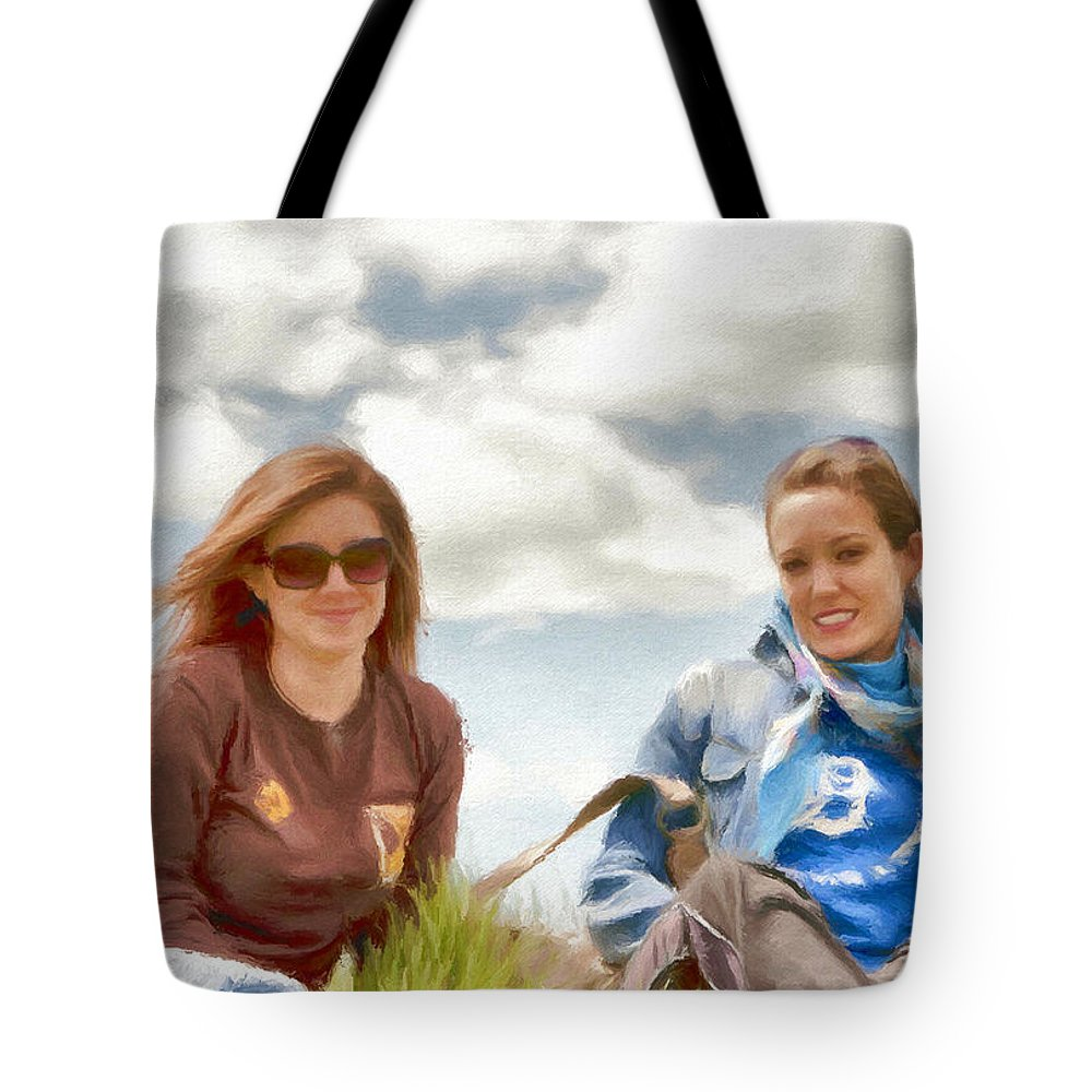 Canadian Tote Bag featuring the painting Daughters by Jeffrey Kolker