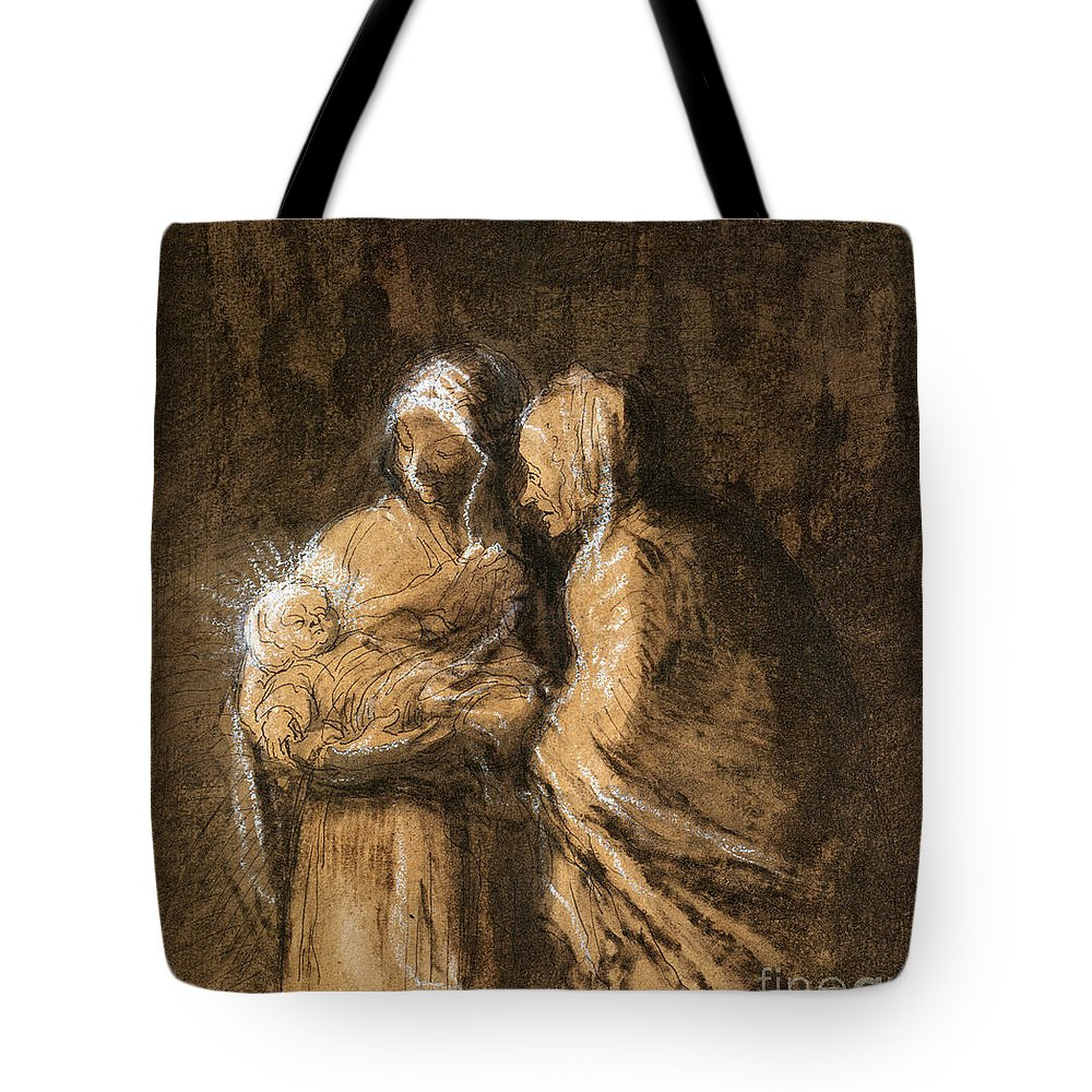 1850 Tote Bag featuring the photograph Daumier: Virgin & Child by Granger