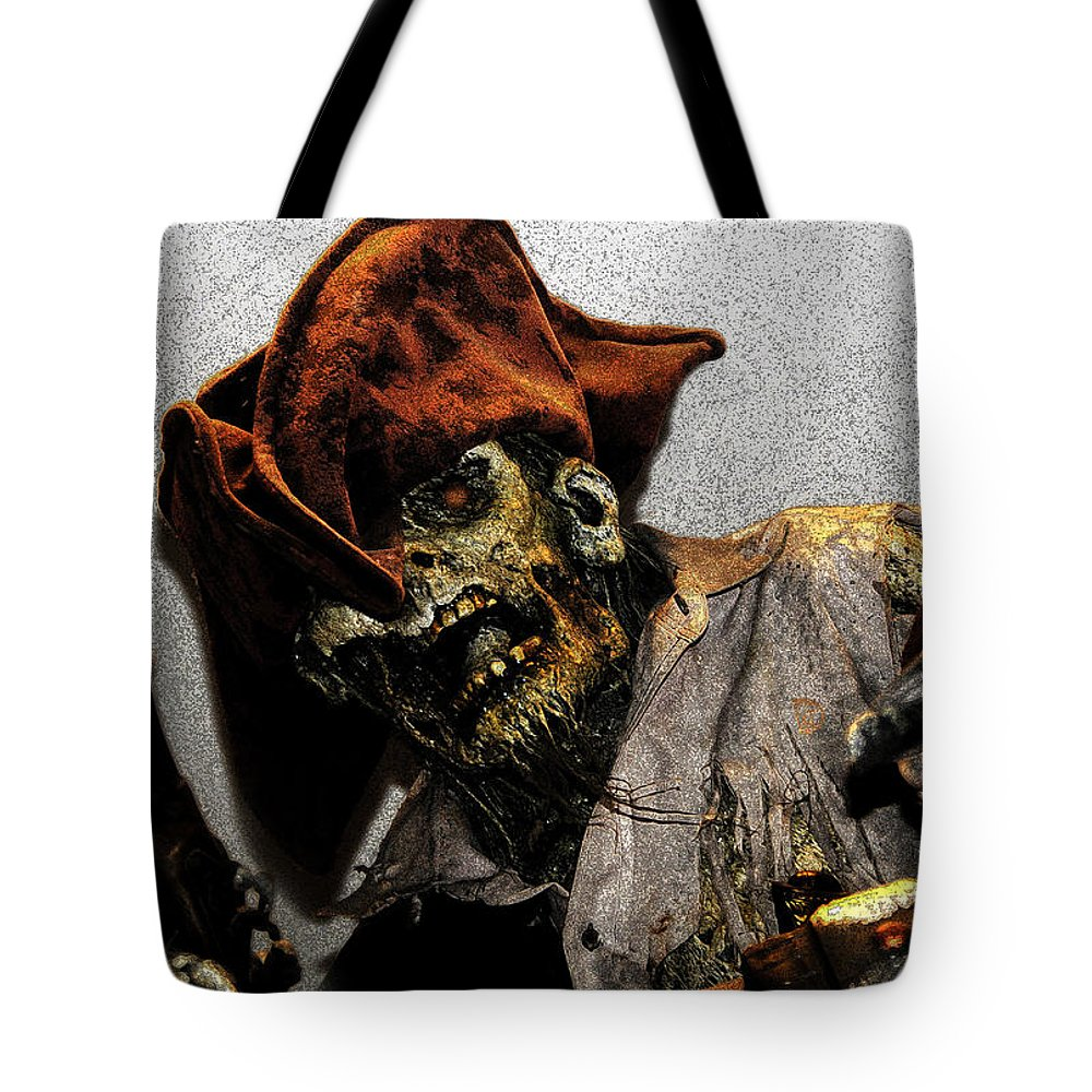 Davey Jones Tote Bag featuring the painting Davey Jones by David Lee Thompson