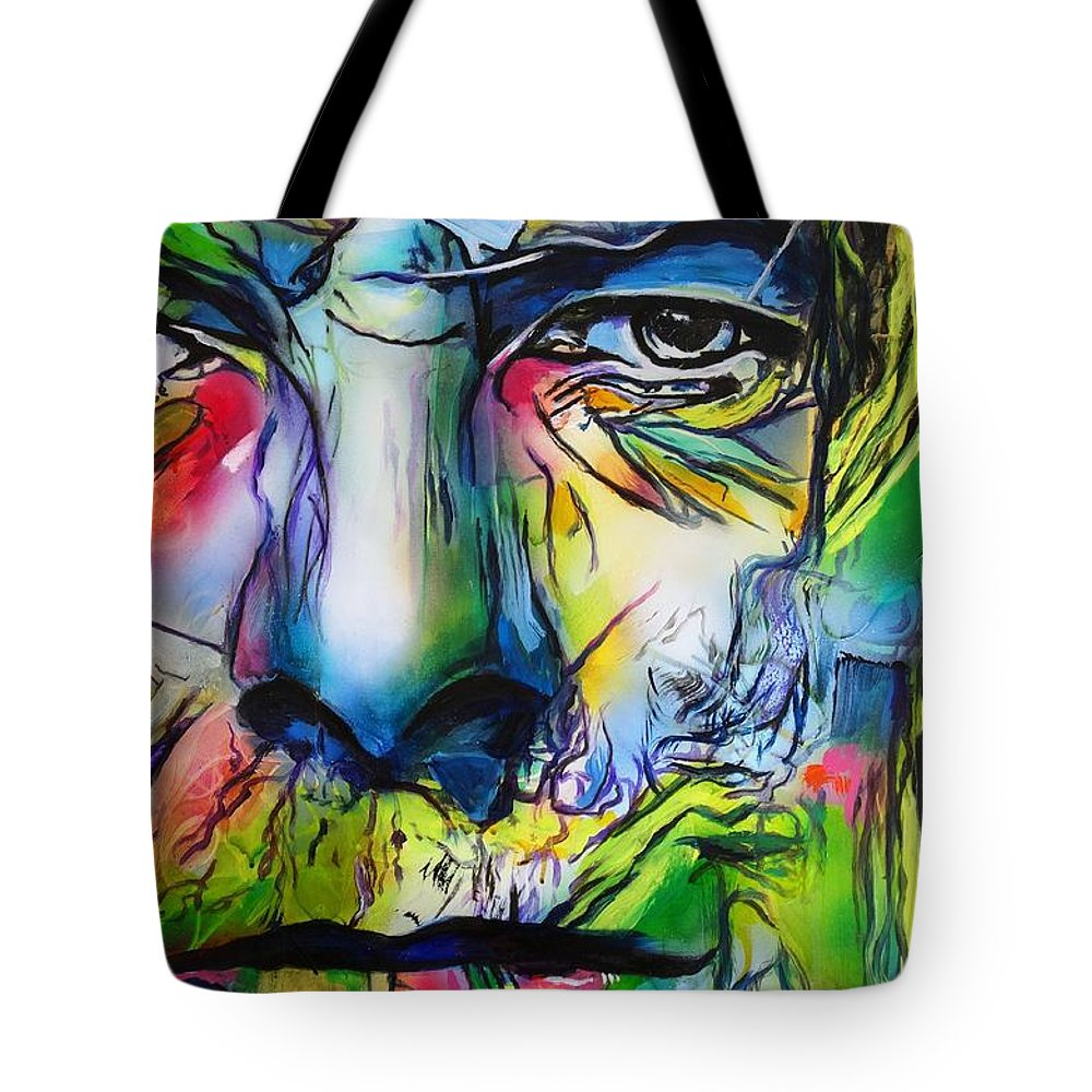 David Bowie Tote Bag featuring the painting David Bowie by Eric Dee