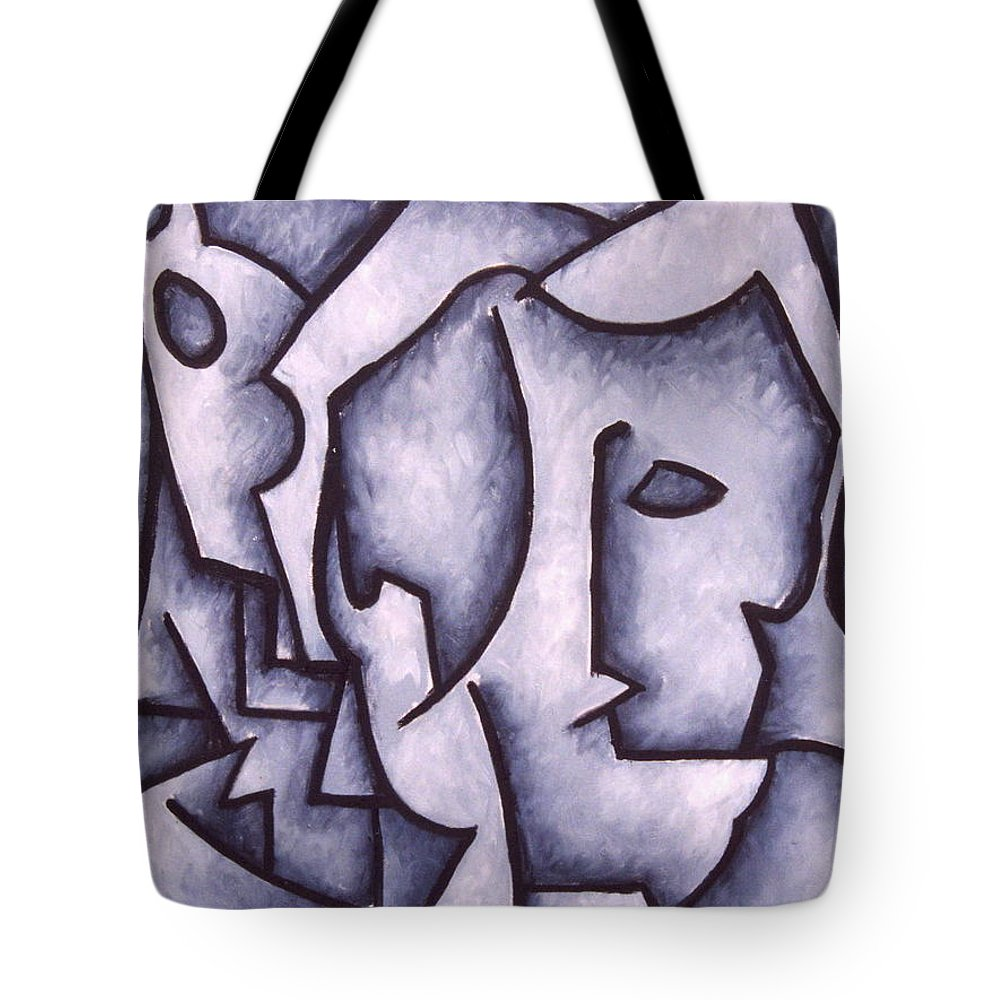 Abstract Tote Bag featuring the painting David by Thomas Valentine