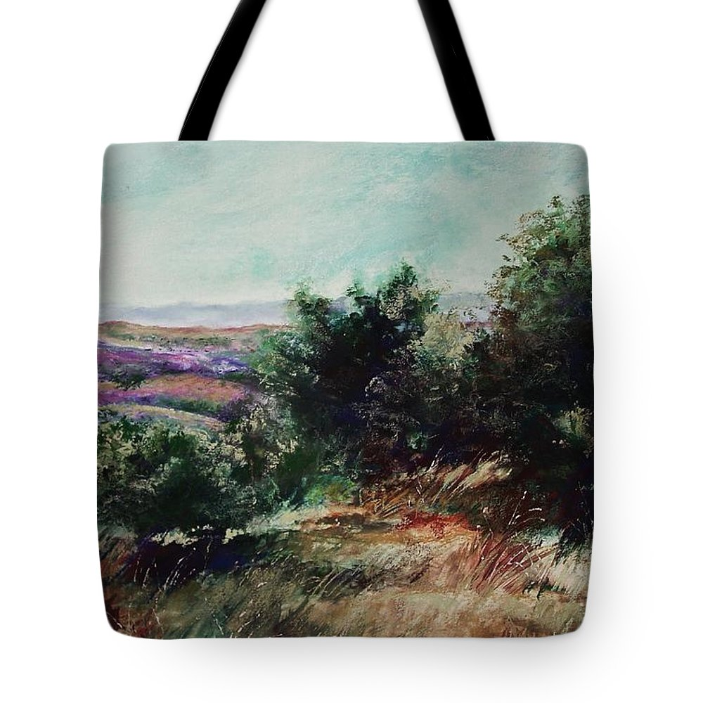Pastel Tote Bag featuring the painting Davis Mountain by Marlene Gremillion