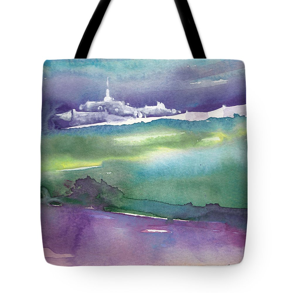 Landscapes Tote Bag featuring the painting Dawn 14 by Miki De Goodaboom