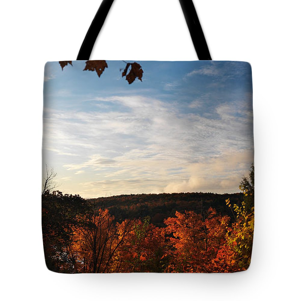 Autumn Tote Bag featuring the photograph Dawn At Algonquin Park Canada by Oleksiy Maksymenko