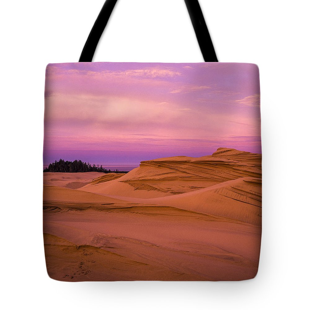 Coast Tote Bag featuring the photograph Dawn Dunes by Robert Potts