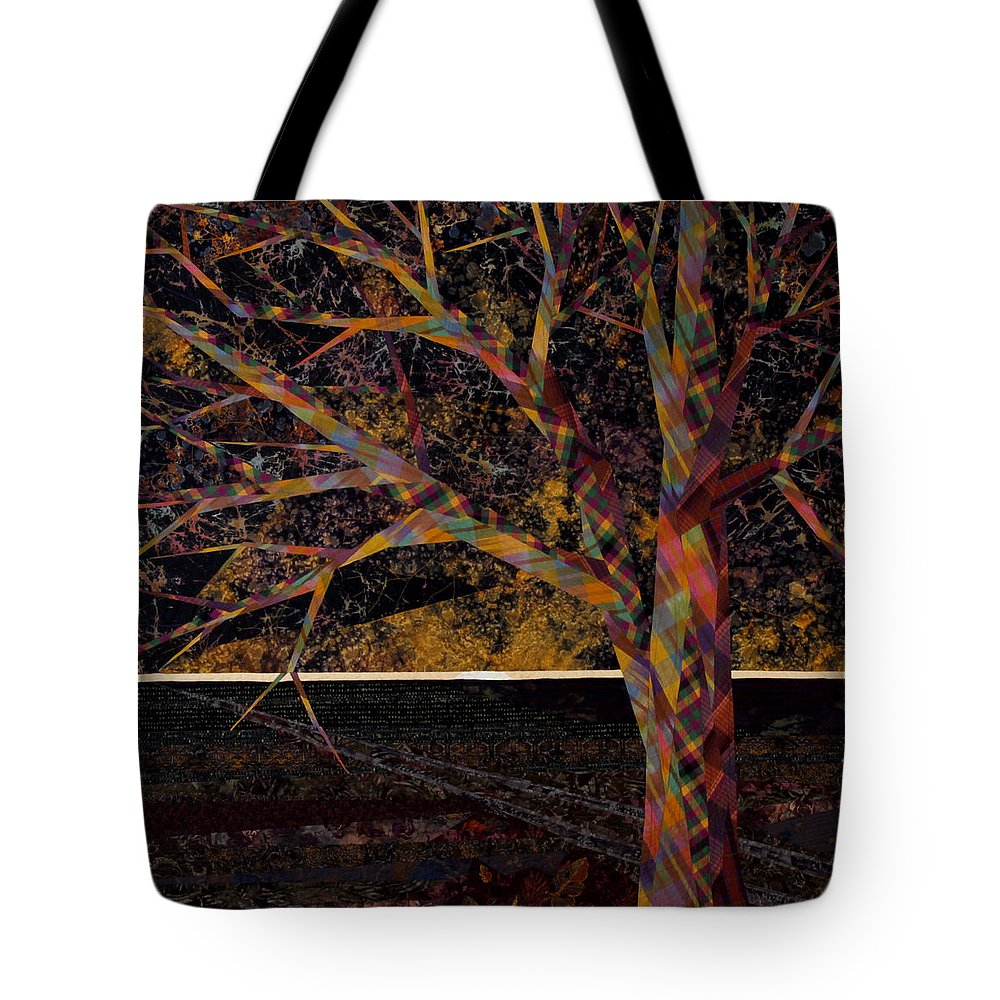 Landscape Tote Bag featuring the tapestry - textile Dawn by Linda Beach