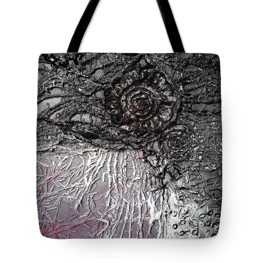 Abstract Tote Bag featuring the mixed media Dawn by Nicoleta cimpeanu