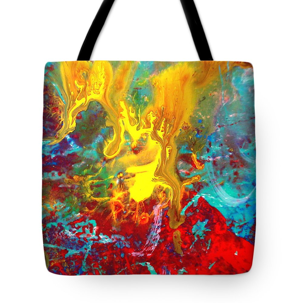 Abstract Tote Bag featuring the painting Dawn Of The Universe by Natalie Holland