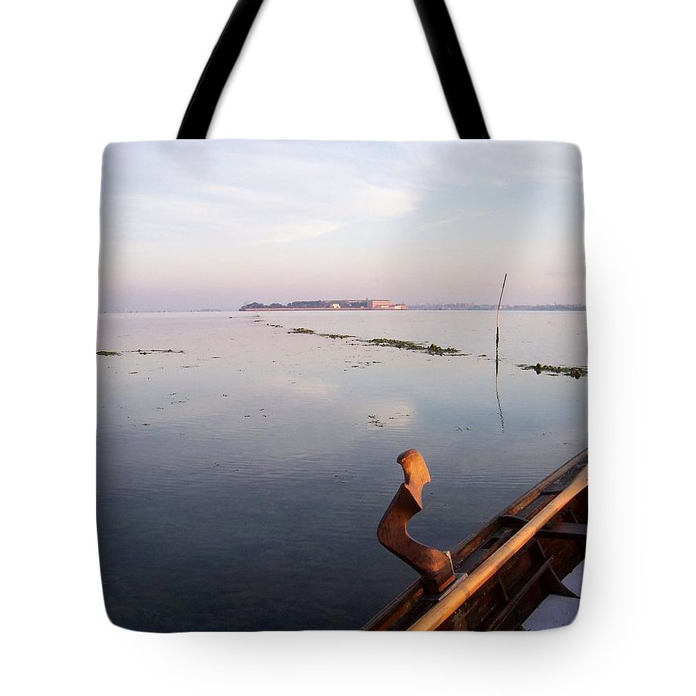 Venice Tote Bag featuring the photograph Dawn On Lagoon by Erla Zwingle