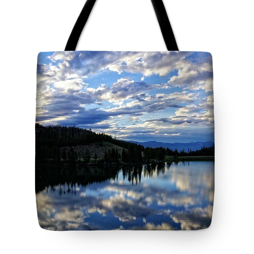 Dawn Tote Bag featuring the photograph Dawn Over Big Sky by John Trommer