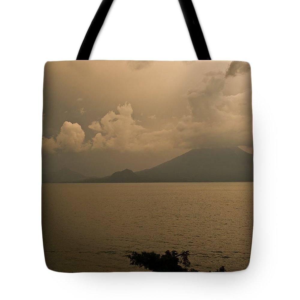 Dawn Tote Bag featuring the photograph Dawn Over The Volcano by Douglas Barnett