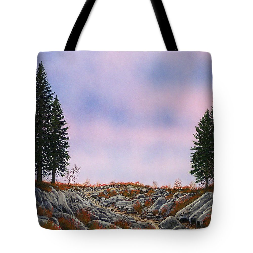 Landscape Tote Bag featuring the painting Dawn Pacific Crest Trail by Frank Wilson