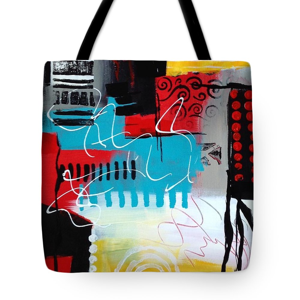 Abstract Tote Bag featuring the painting Day 7...30 In 30 Challenge by Suzzanna Frank