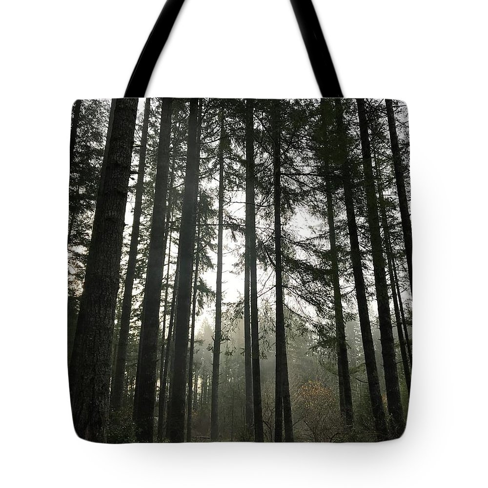 Trees Tote Bag featuring the photograph Day Break by Dani Keating