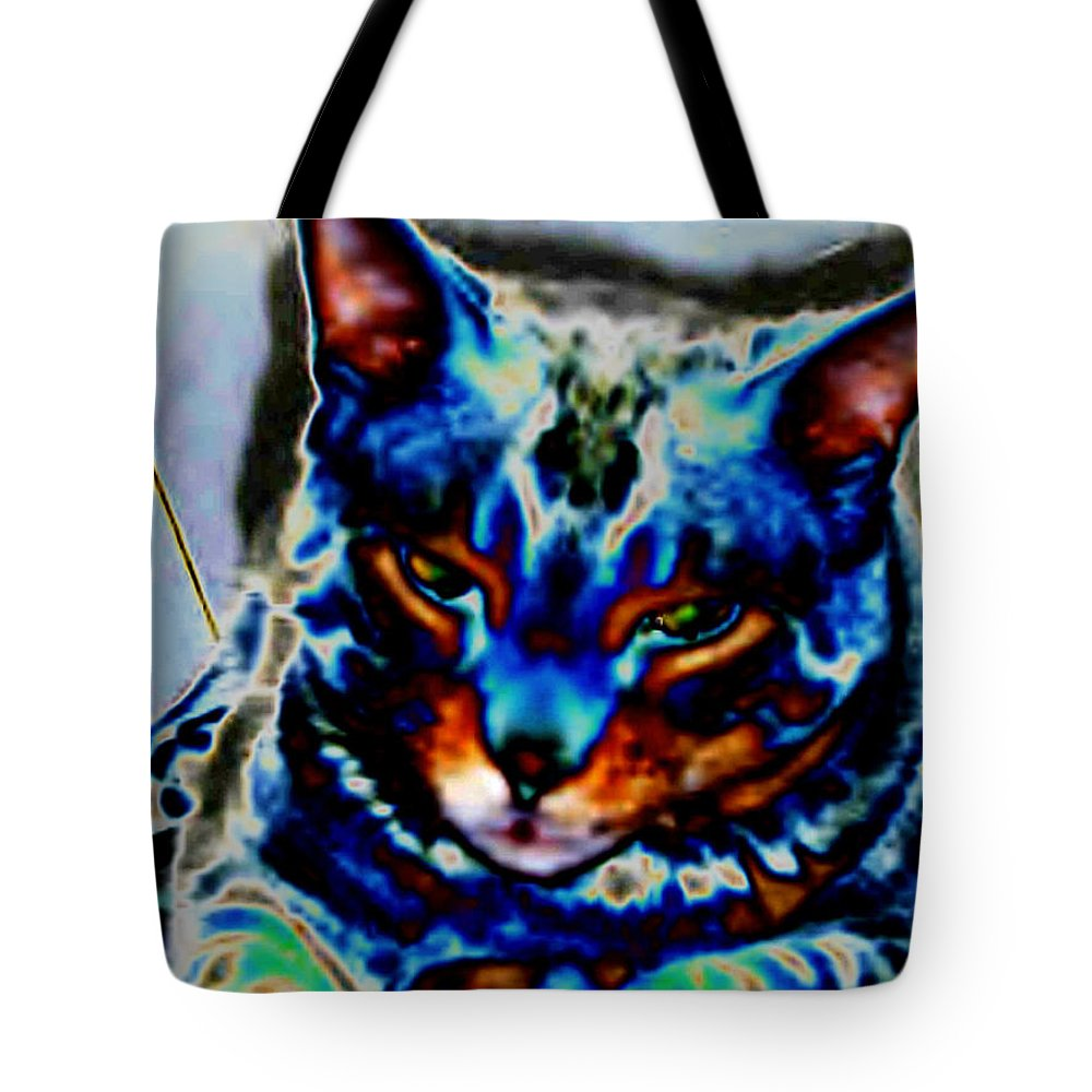 Cat Tote Bag featuring the photograph Day Dreamer by Dawn Johansen