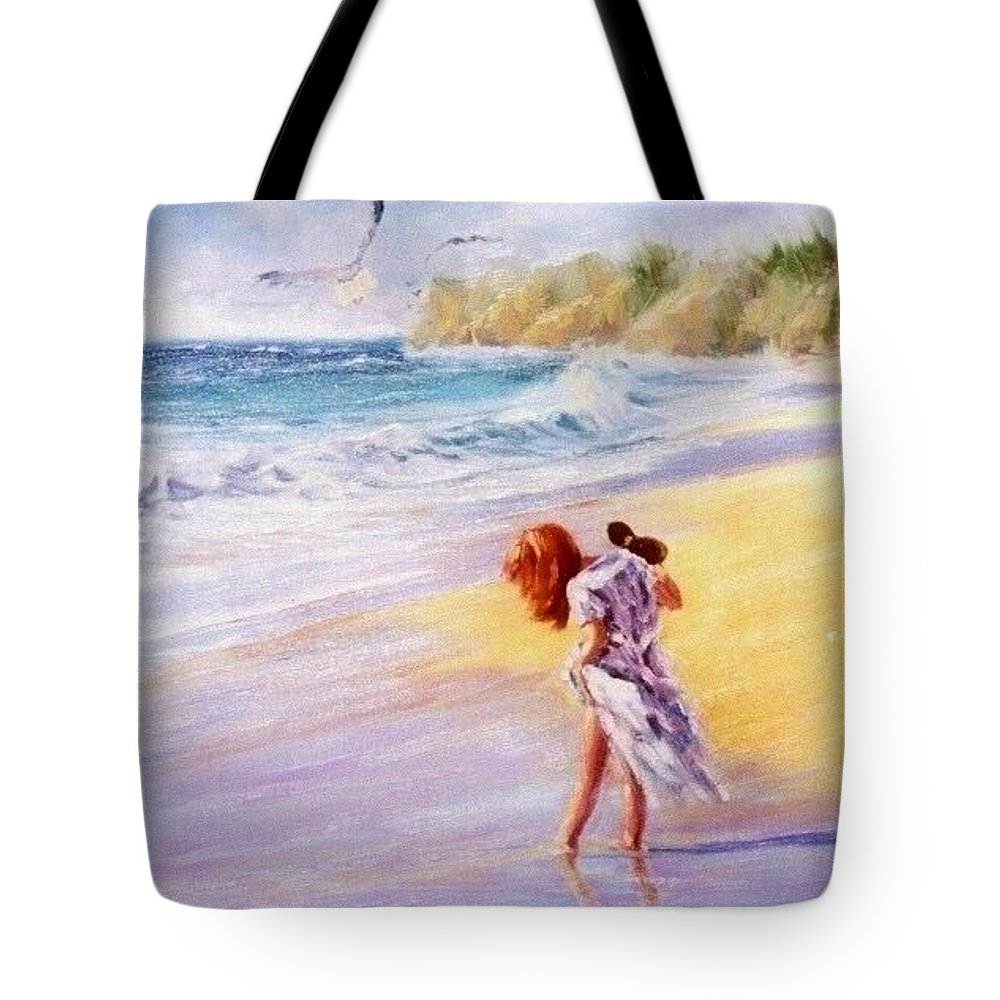 Seascape Tote Bag featuring the painting Day Dreamer by Laura Lee Zanghetti