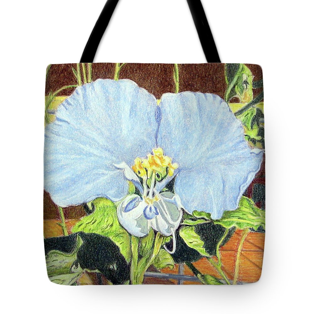 Fuqua - Artwork Tote Bag featuring the drawing Day Flower by Beverly Fuqua