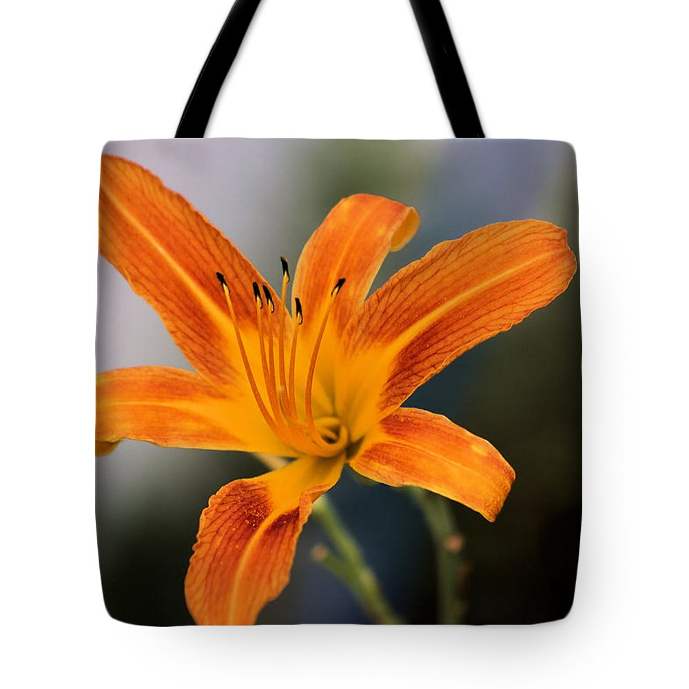 Montana Tote Bag featuring the photograph Day Lily by Scott Carlton