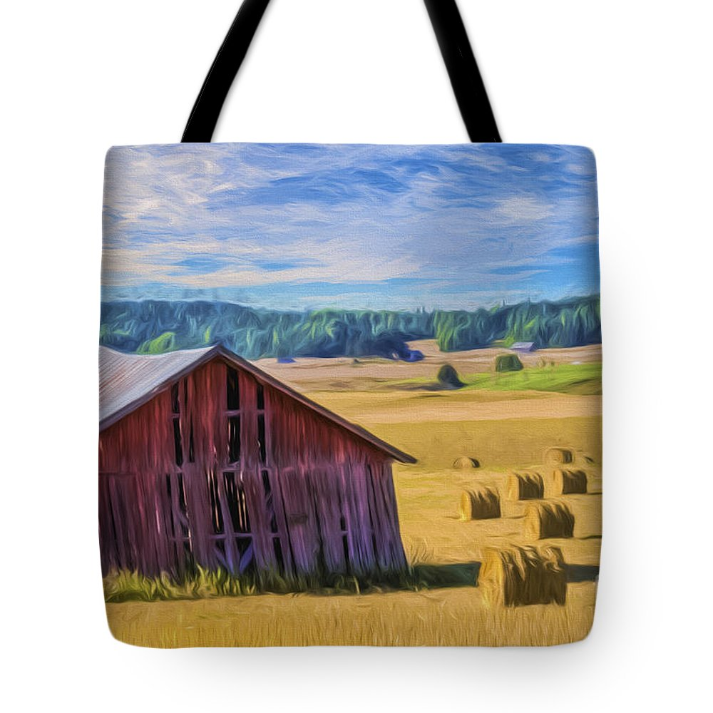 Art Tote Bag featuring the painting Day Of August by Veikko Suikkanen