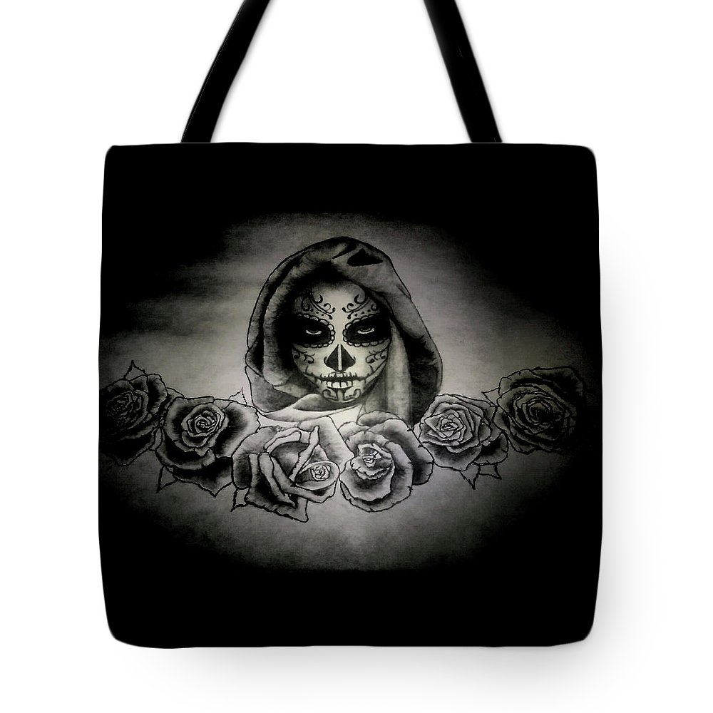 Day Tote Bag featuring the painting Day Of The Dead by Alexander Dumas