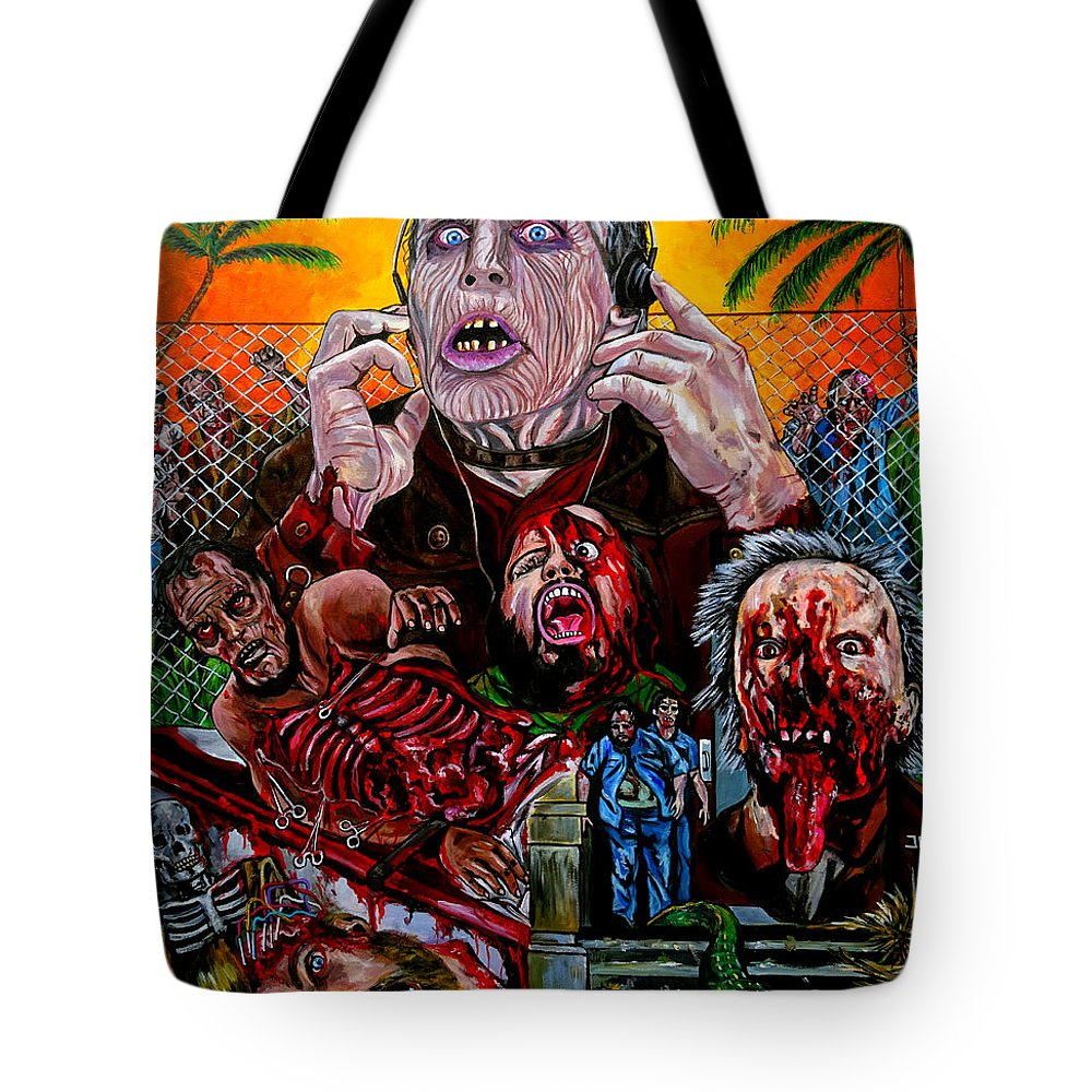 Day Of The Dead Tote Bag featuring the painting Day Of The Dead by Jose Mendez