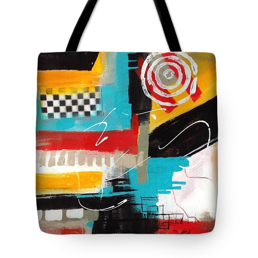 Abstract Tote Bag featuring the painting Day Six...30 In 30 Challenge by Suzzanna Frank