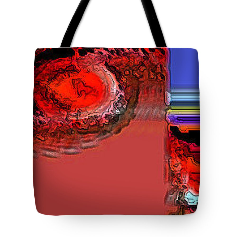 Abstract Tote Bag featuring the digital art Day The Sun Burns Up by Lenore Senior
