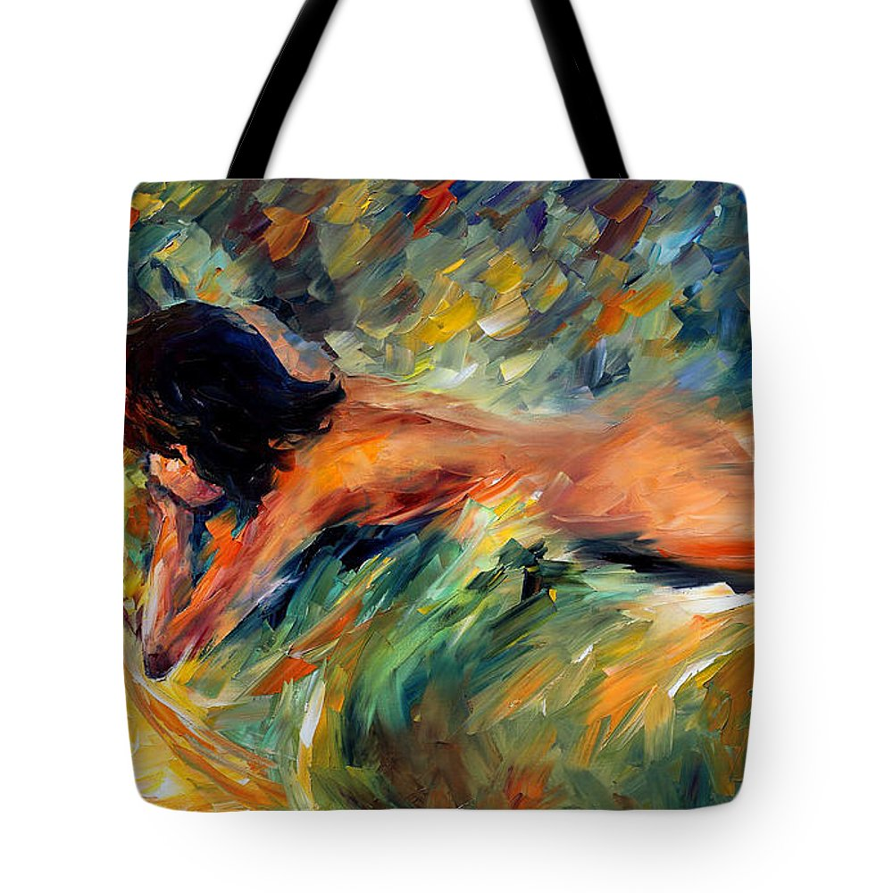 Woman Tote Bag featuring the painting Daydream by Leonid Afremov