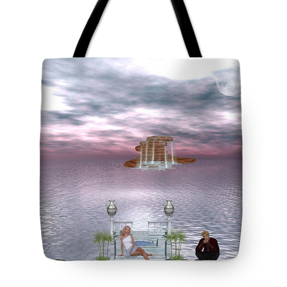 Daydreaming Tote Bag featuring the digital art Daydreaming by RiaL Treasures