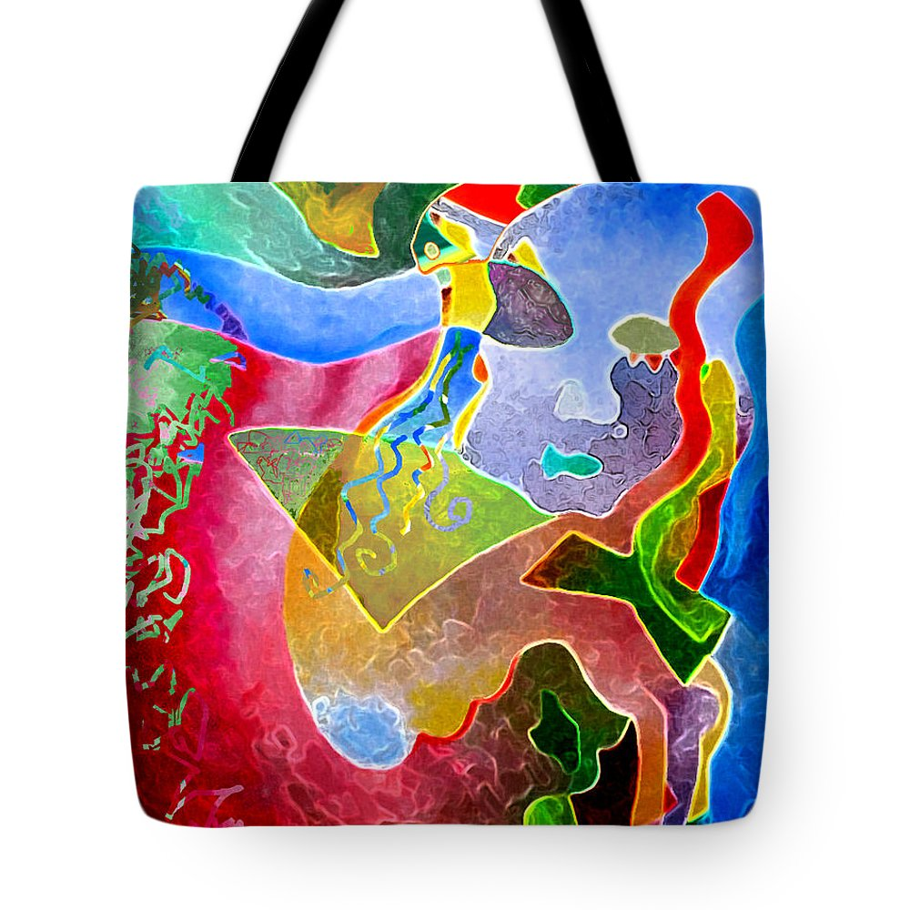 Coffee Tote Bag featuring the painting Daydreams by Sally Trace