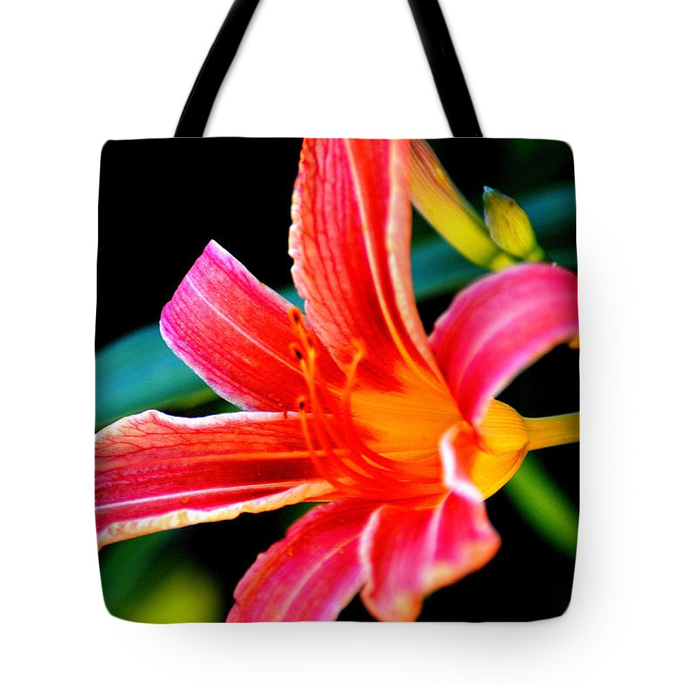Daylily Tote Bag featuring the photograph Daylily by Belinda Stucki