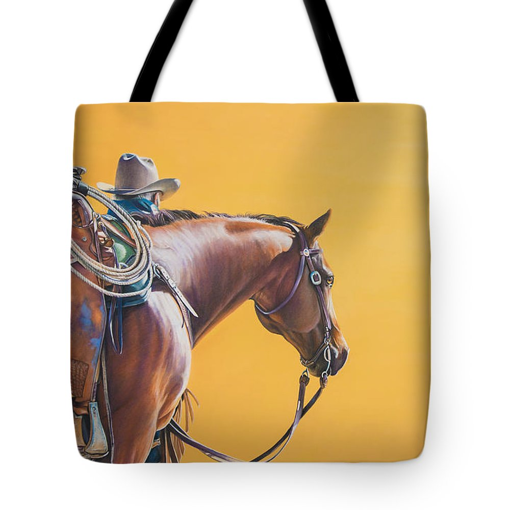 Sunset Tote Bag featuring the pastel Days End by Joni Beinborn