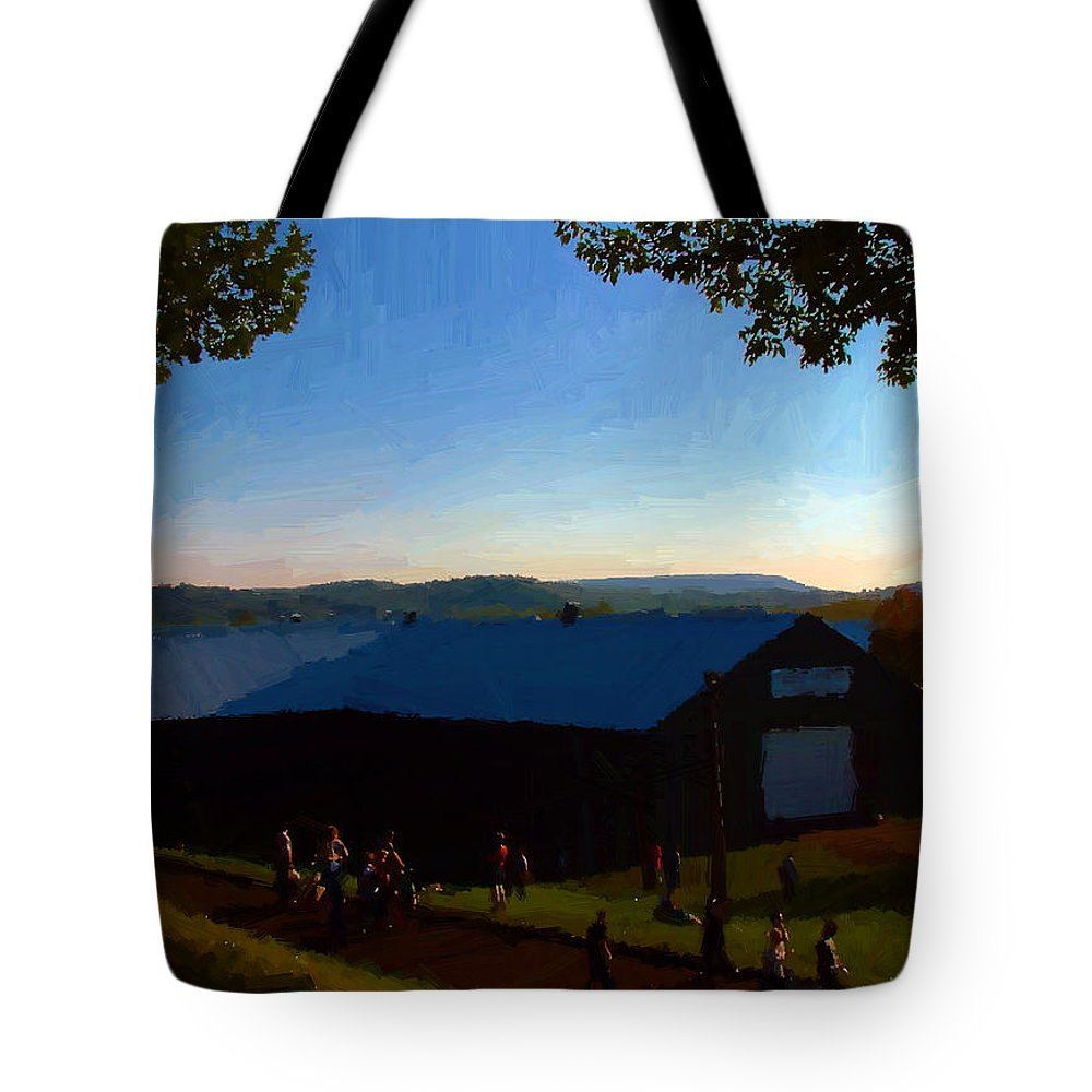 Autumn Tote Bag featuring the digital art Day's End by RC DeWinter