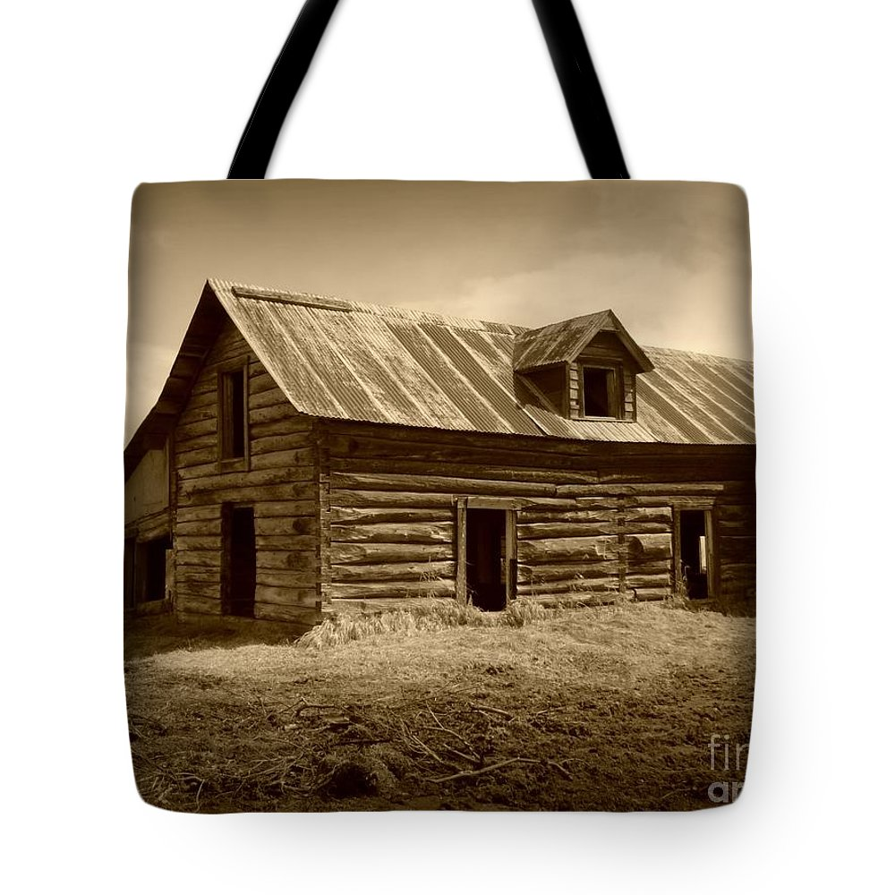Cabin Tote Bag featuring the photograph Days Gone By by Rick Monyahan