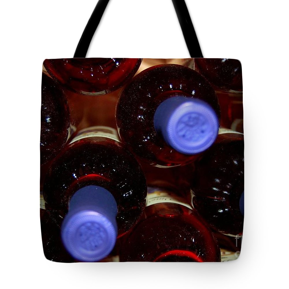 Wine Tote Bag featuring the photograph De-vine Wine by Debbi Granruth