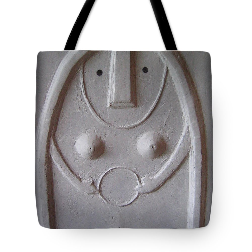 Mitologia Tote Bag featuring the painting Dea Madre Luna by Luca Corona