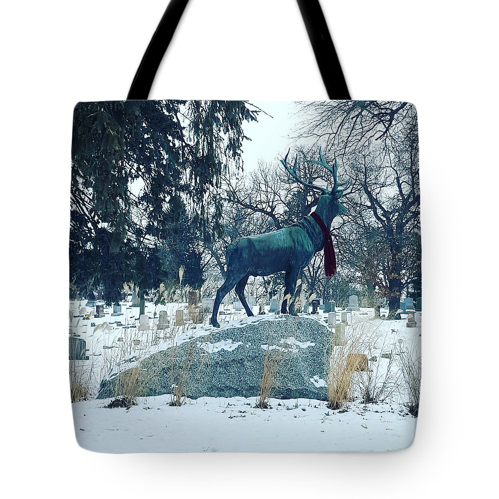 Cemetery Tote Bag featuring the photograph Dead Things I by Shelli Finch