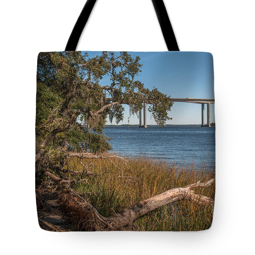 Daniel Island Tote Bag featuring the photograph Dead Wood Along Jogging Path by Dale Powell
