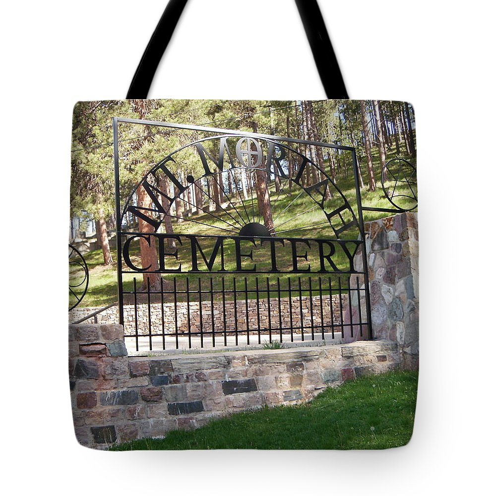 Sights Tote Bag featuring the photograph Deadwood, South Dakota by Edward Wolverton