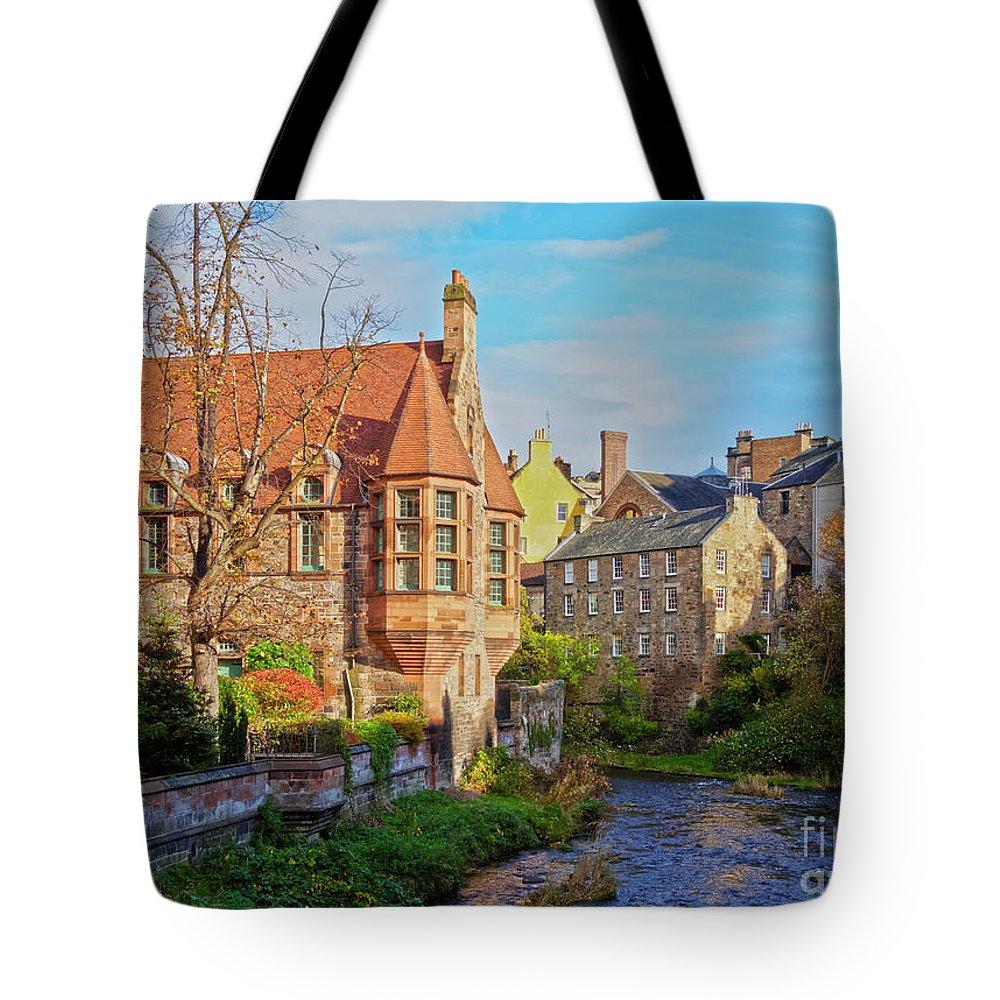 Europe Tote Bag featuring the photograph Dean Village, Edinburgh, Scotland by Karol Kozlowski